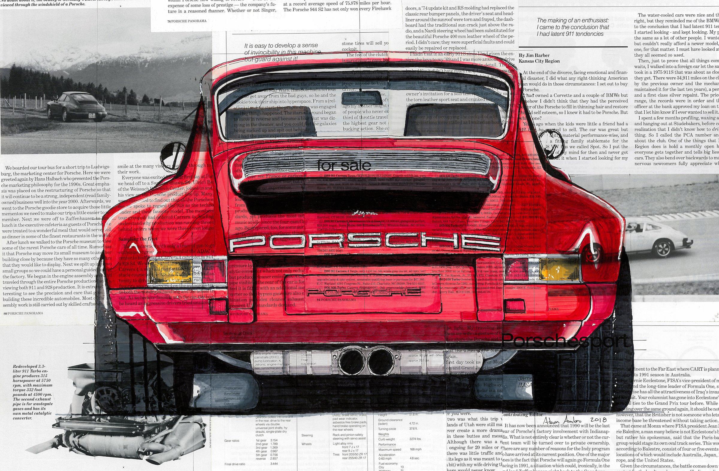 Art of Adam Ambro Porsche 911 Main