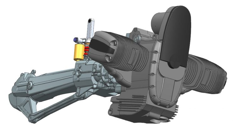 CAD Swing Arm And Engine