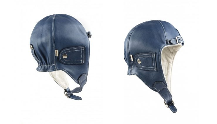 Chapal Leather Driver's Helmet Blue
