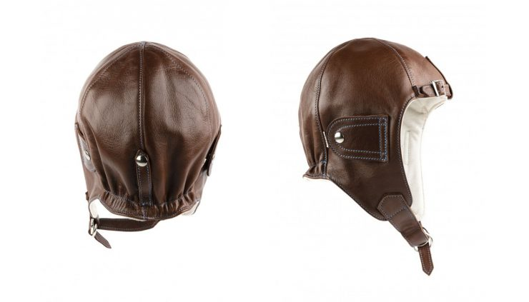Chapal Leather Driver's Helmet Tan
