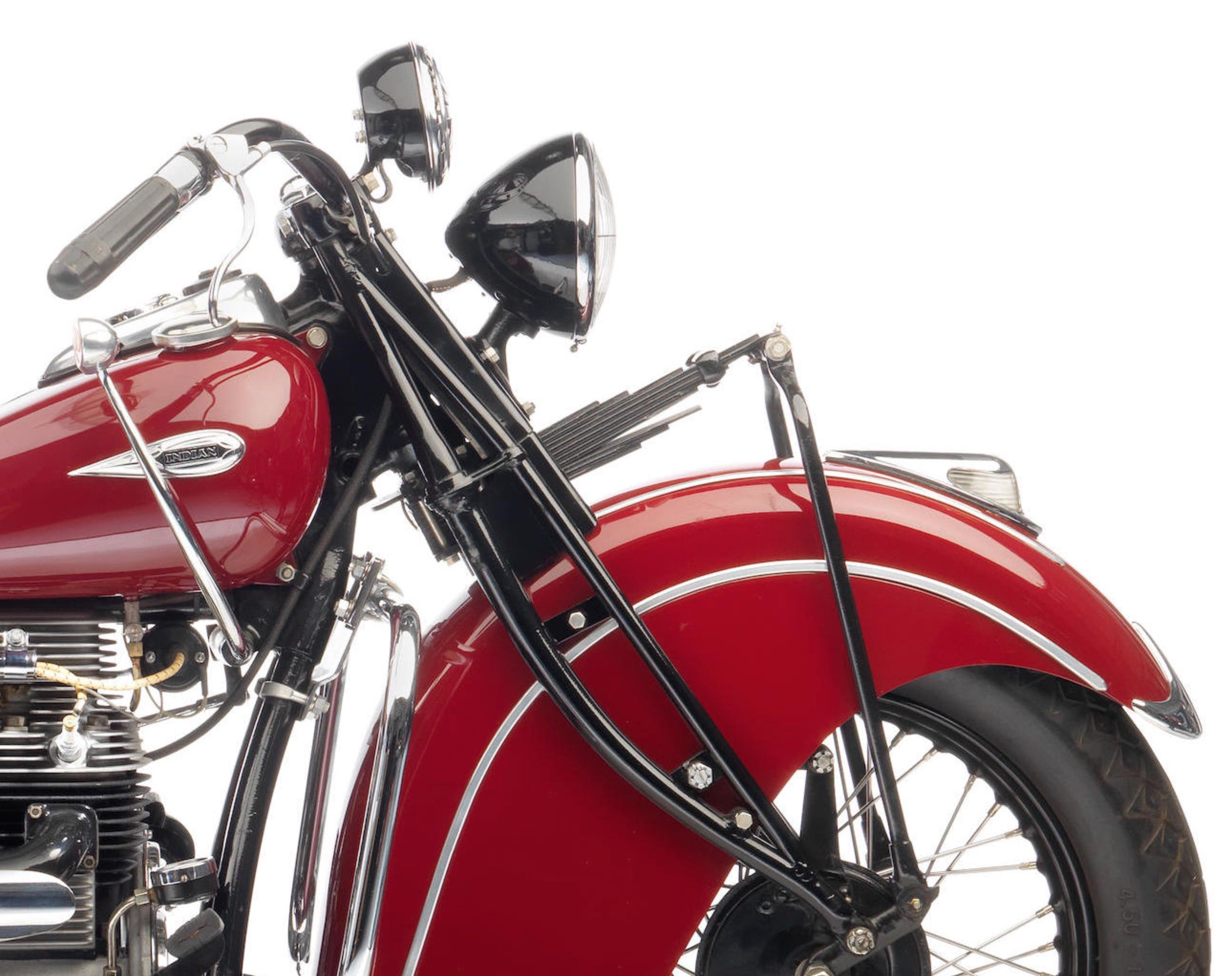 Indian Four Motorcycle Front Suspension