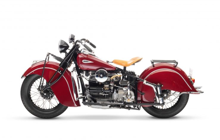 Indian Four Motorcycle Left Side