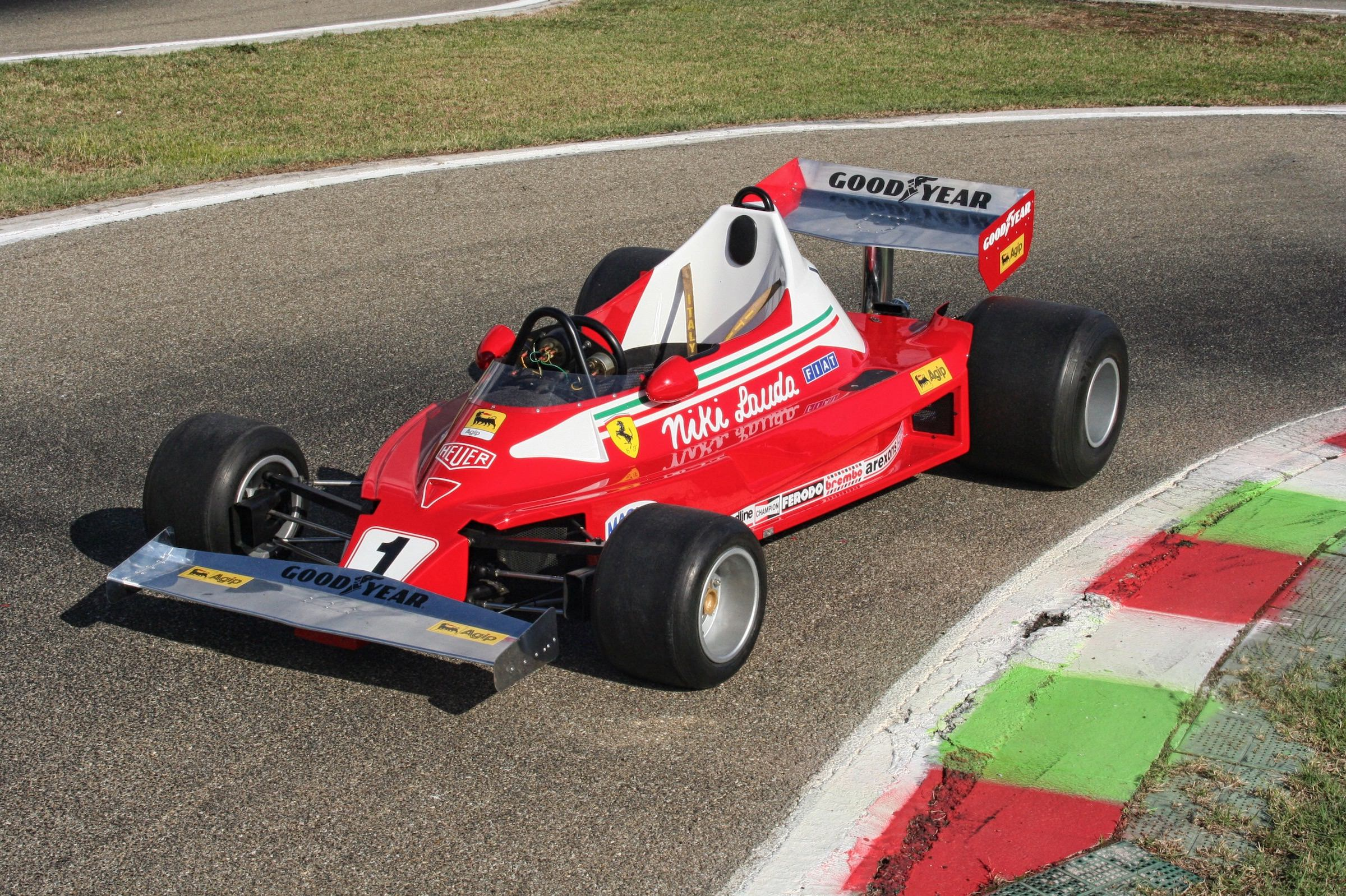 a drivable 1 2 scale 1977 ferrari 312t2 formula 1 car. Black Bedroom Furniture Sets. Home Design Ideas