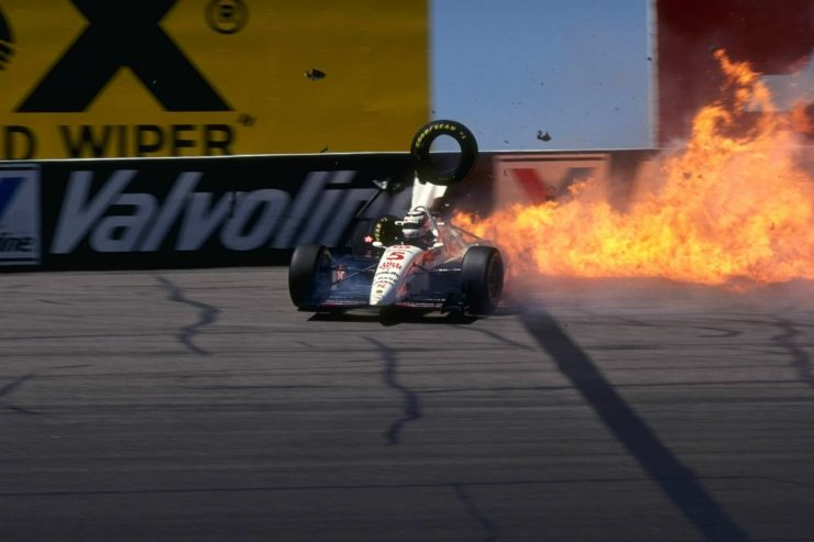 Nigel Mansell Crash 1993 Indycar Season