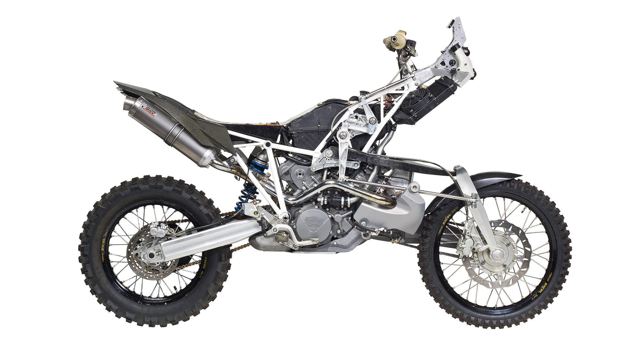 a home built kit to convert the ktm 990 adventure to two. Black Bedroom Furniture Sets. Home Design Ideas