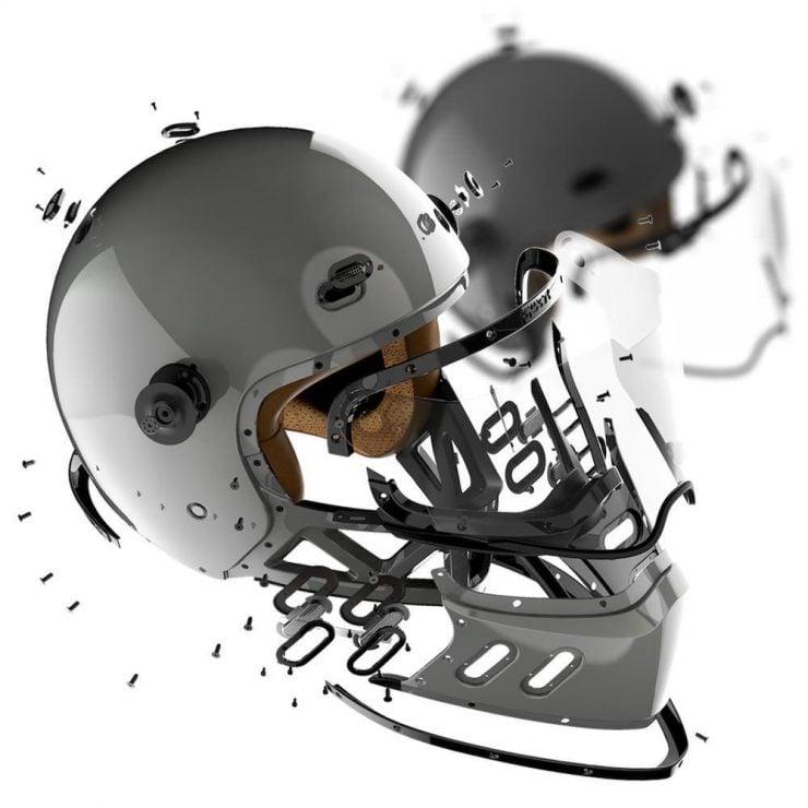 Qwart Helmets - A Modular Carbon Fiber Motorcycle Helmet Parts