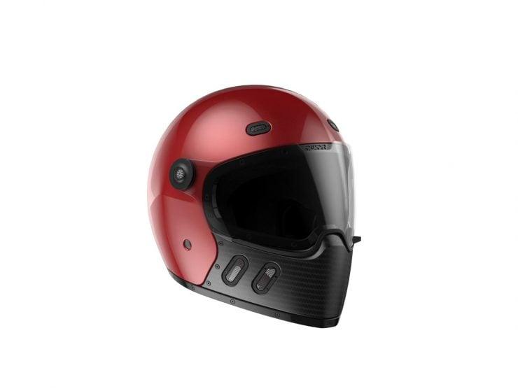 Qwart Helmets - A Modular Carbon Fiber Motorcycle Helmet Red