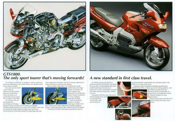 Yamaha GTS 1000 Motorcycle Brochure 1 740x513 - The JSK Moto Co. Custom Yamaha GTS 1000 - Project Rhodium Omega