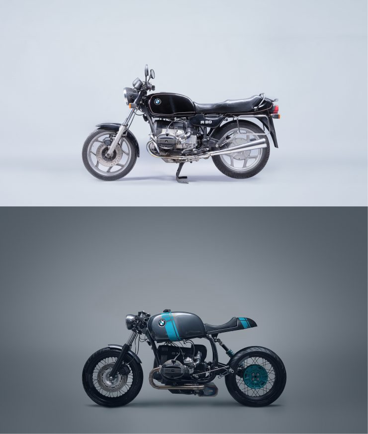 BMW R80 Monolever Custom Before and After