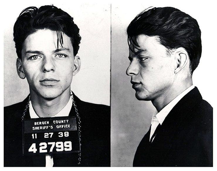 Frank Sinatra Mugshot 740x582 - Frank Sinatra's 1938 Arrest Fingerprint Records