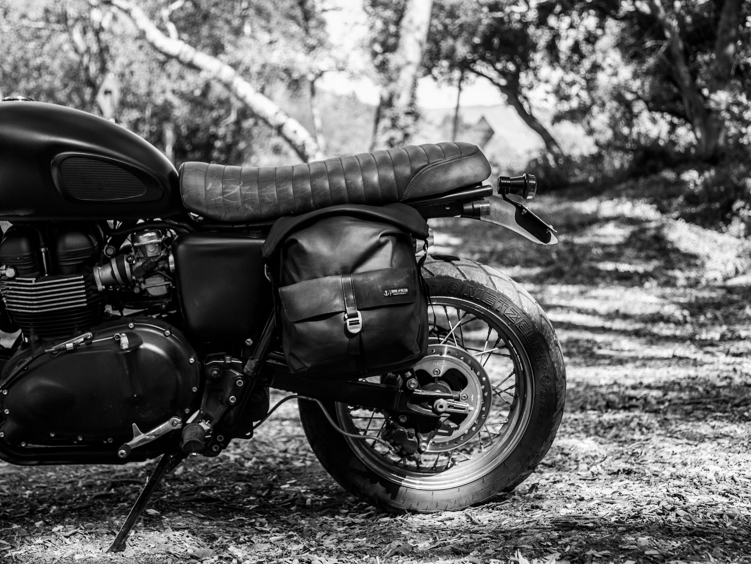 Iron & Resin Moto Pannier Bag