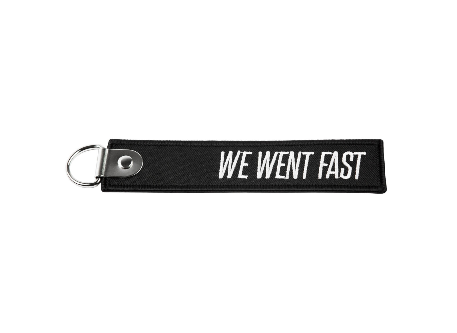 We Went Fast Keychain Tag