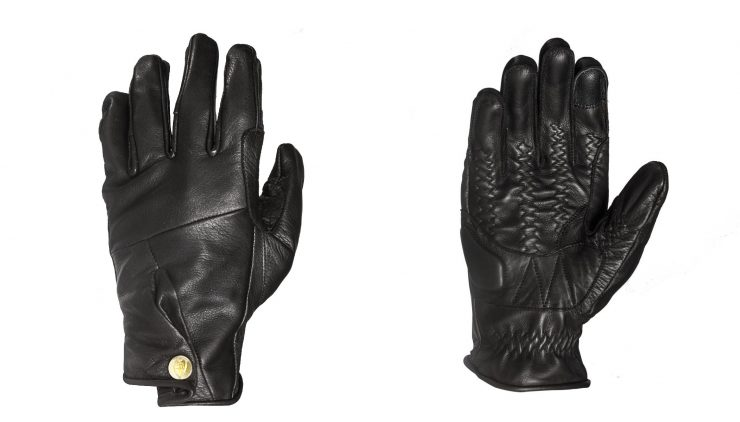 Abel Brown Mada Motorcycle Gloves Black