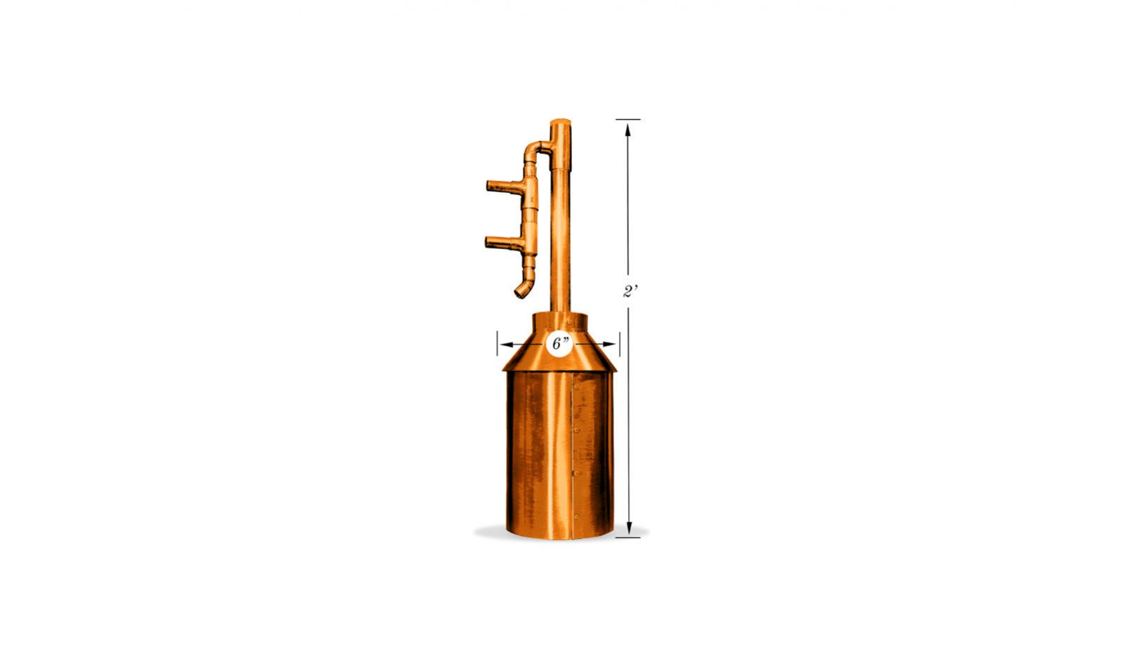 Gallon Copper Moonshine Whiskey Gin Still Kit