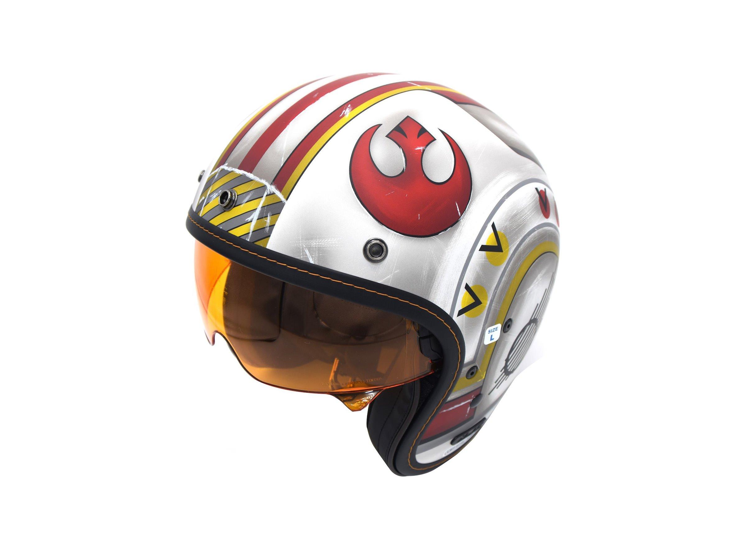 Fighter Pilot Motorcycle Helmet The HJC IS-5 X-...