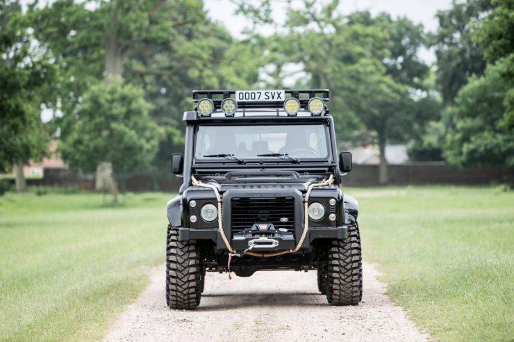 "James Bond Spectre Land Rover Defender SVX 4 740x492 - The James Bond ""Spectre"" Land Rover Defender SVX"