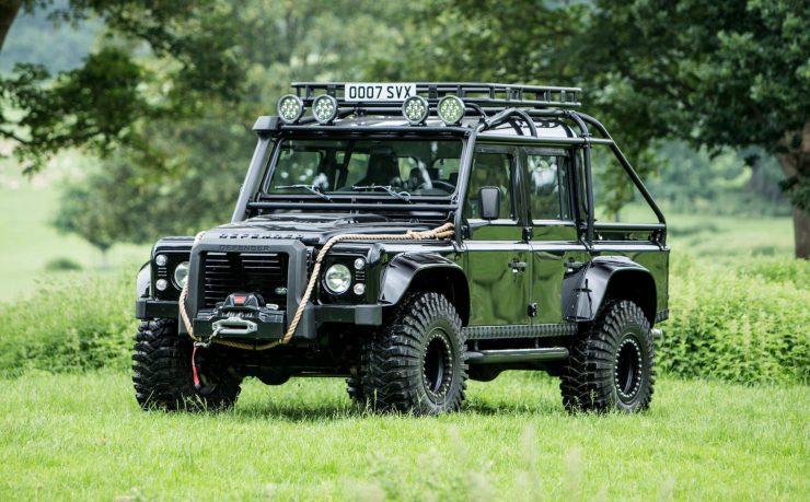 "James Bond Spectre Land Rover Defender SVX 740x459 - The James Bond ""Spectre"" Land Rover Defender SVX"