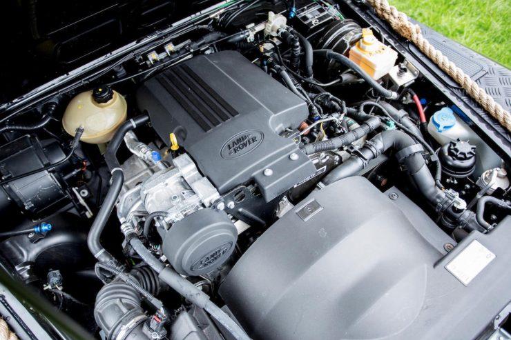 "James Bond Spectre Land Rover Defender SVX Engine 740x493 - The James Bond ""Spectre"" Land Rover Defender SVX"