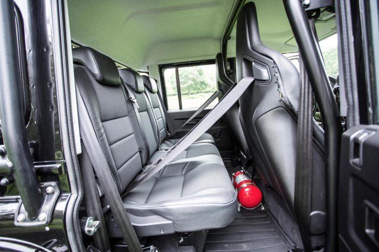 "James Bond Spectre Land Rover Defender SVX Interior 740x493 - The James Bond ""Spectre"" Land Rover Defender SVX"