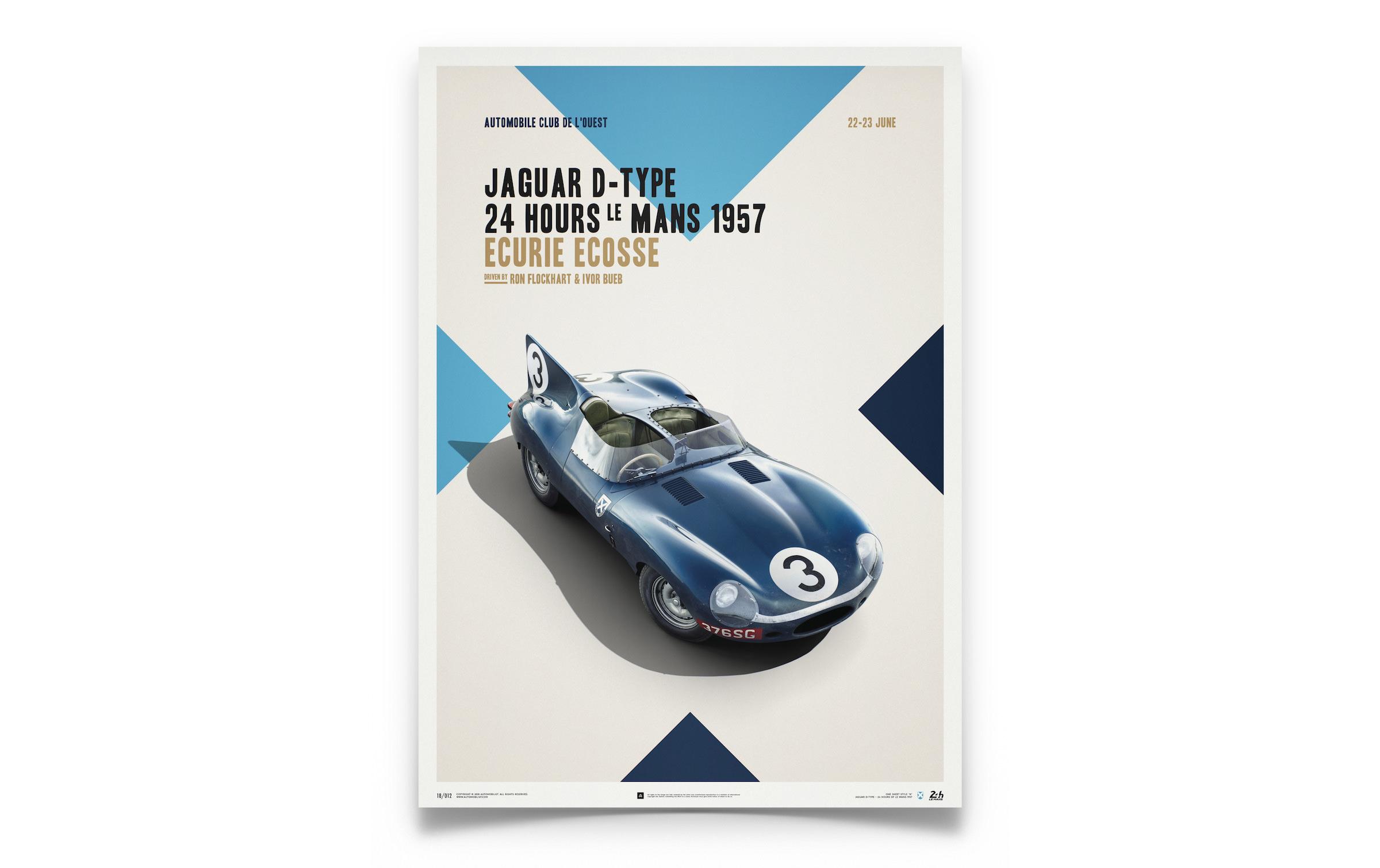 Le Mans Winning Ecurie Ecosse Jaguar D-Type