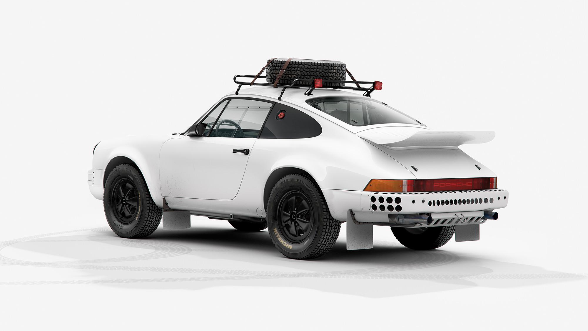 The Porsche 953 Ink Print 1984 Paris Dakar Rally Winner