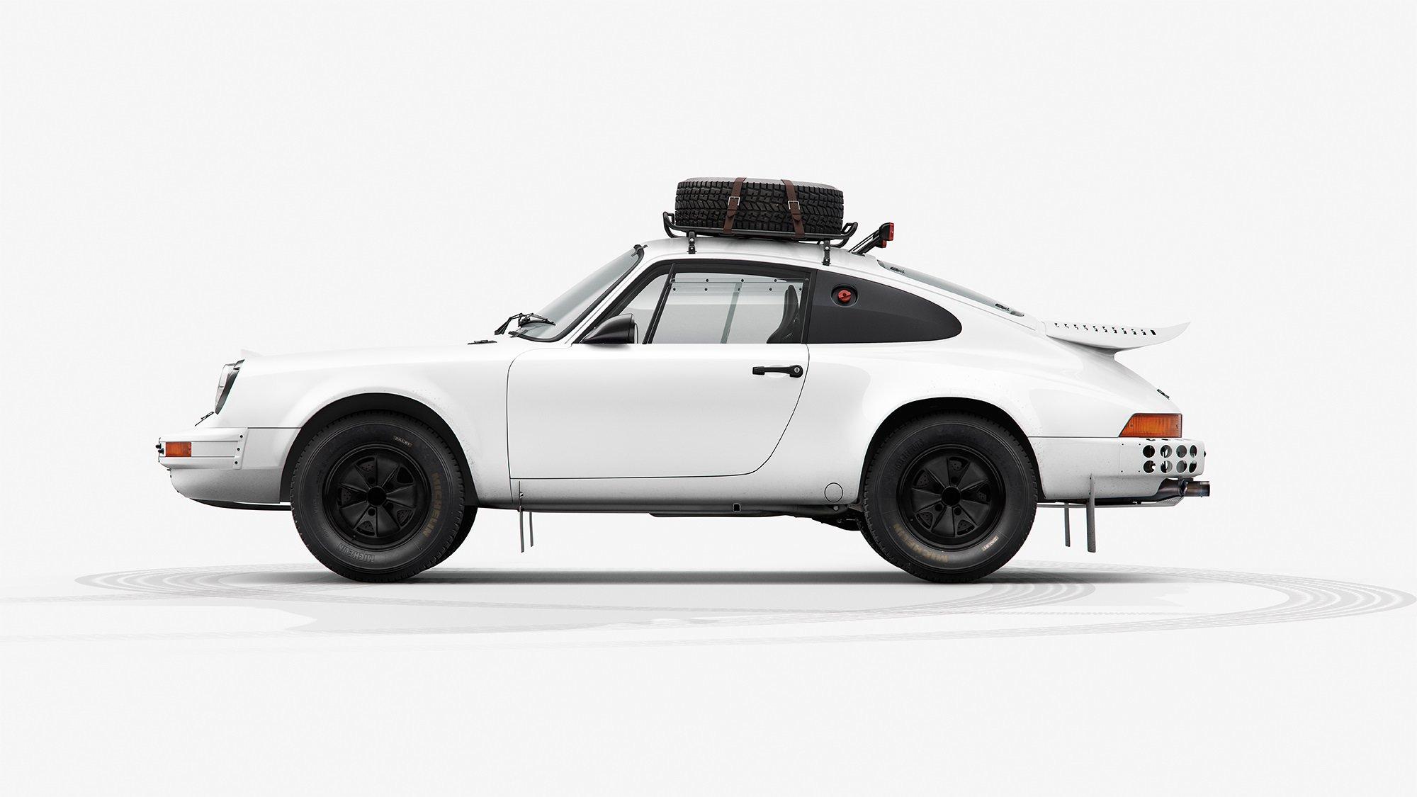 The Porsche 953 INK Print - 1984 Paris-Dakar Rally Winner