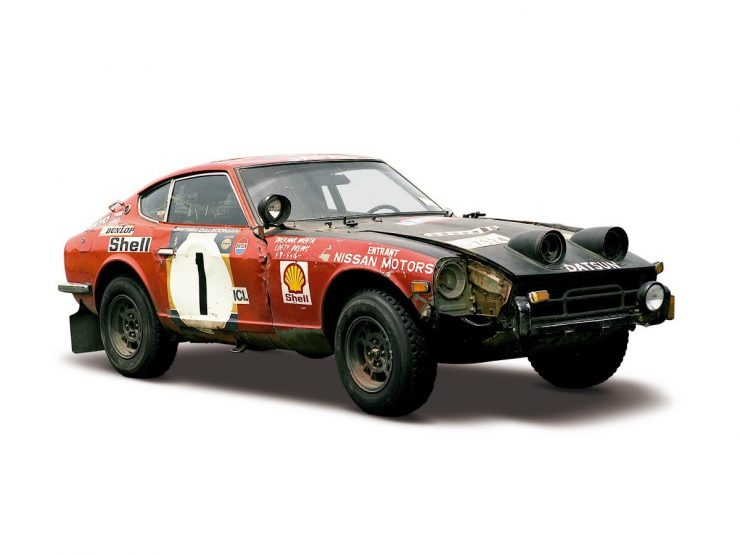 Shekhar Mehta:Lofty Drews Datsun 240Z 1973 East African Safari Rally winner