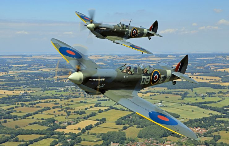 Spitfire Flight Formation