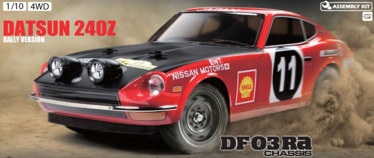 Tamiya 1:10 Scale Remote Control Datsun 240Z Rally Version Car
