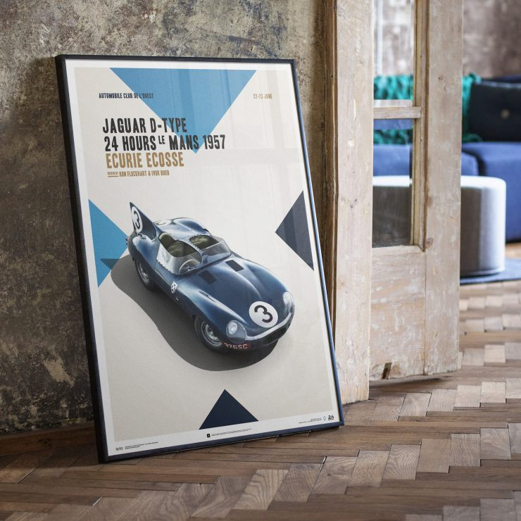 The Le Mans Winning Ecurie Ecosse Jaguar D-Type - Automobilist Poster
