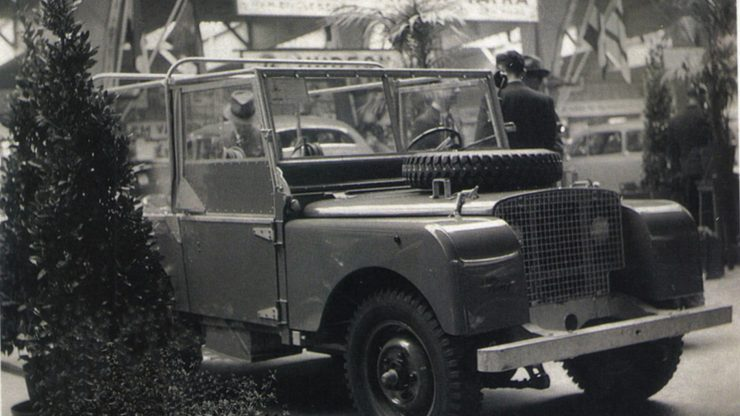 Land Rover Series I Amsterdam Motor Show April 1948