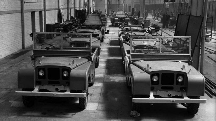 Land Rover Series I production line Solihull