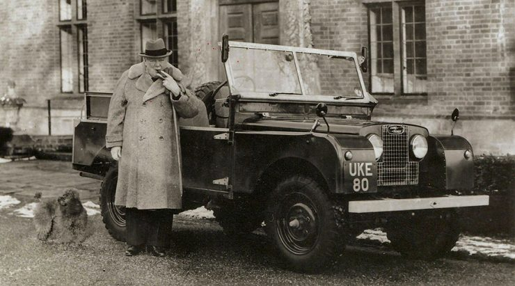 Winston Churchill Land Rover Series I