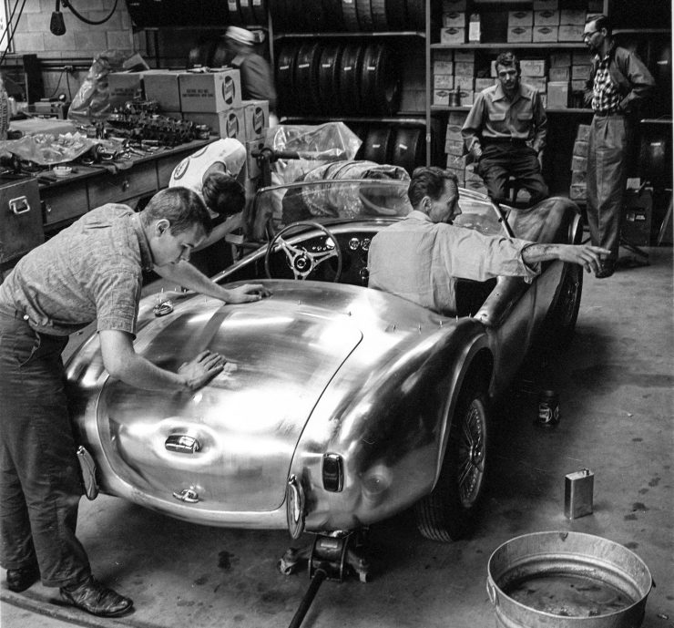 Shelby Cobra AC prototype workshop