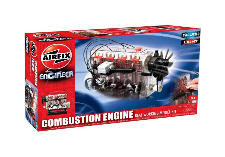 Airfix Combustion Engine Kit - A Transparent Working Engine Model Box