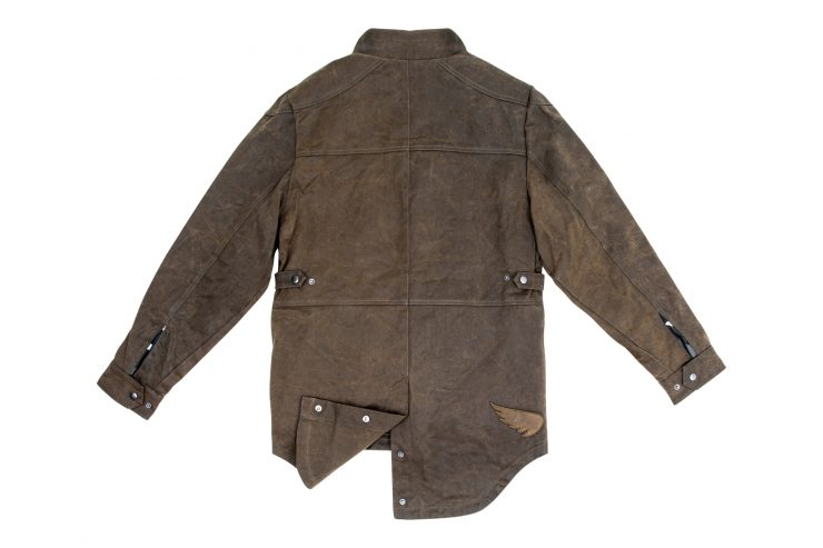 Saint Adventure Waxed Motorcycle Jacket Back