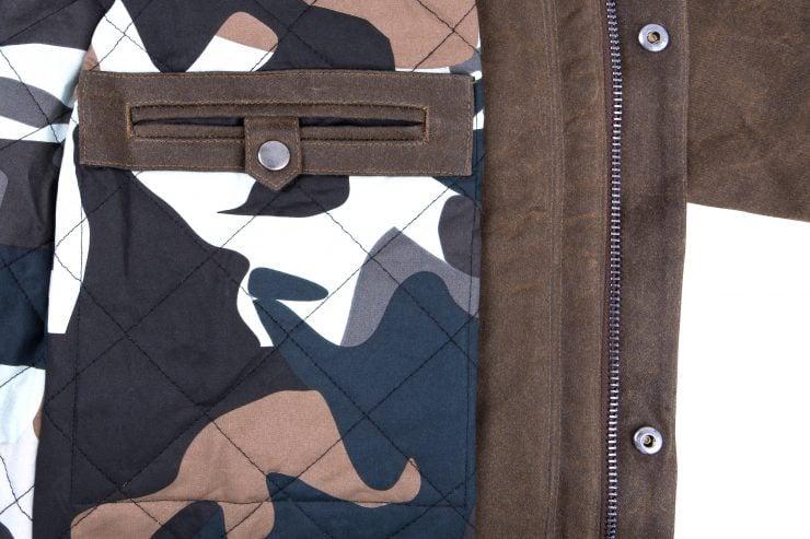 Saint Adventure Waxed Motorcycle Jacket Detail 3