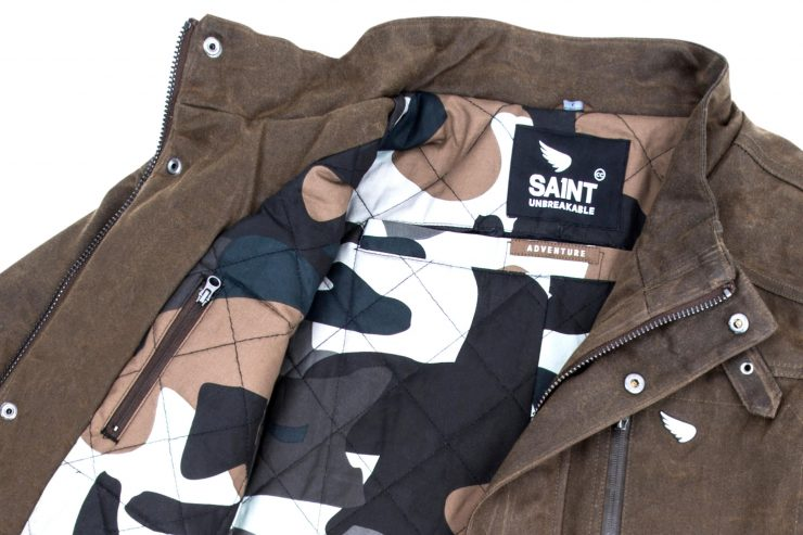 Saint Adventure Waxed Motorcycle Jacket Detail