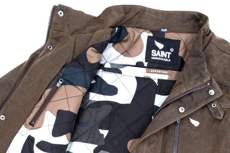 Saint Adventure Waxed Motorcycle Jacket Detail