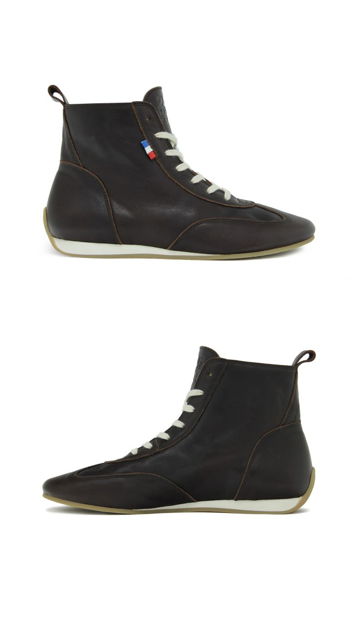 The Piloti 1923 Retro Limited Edition 24H Le Mans Driving Shoe Sides