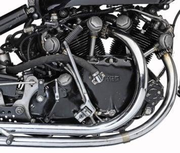 Vincent Black Shadow Lightning V-Twin Engine
