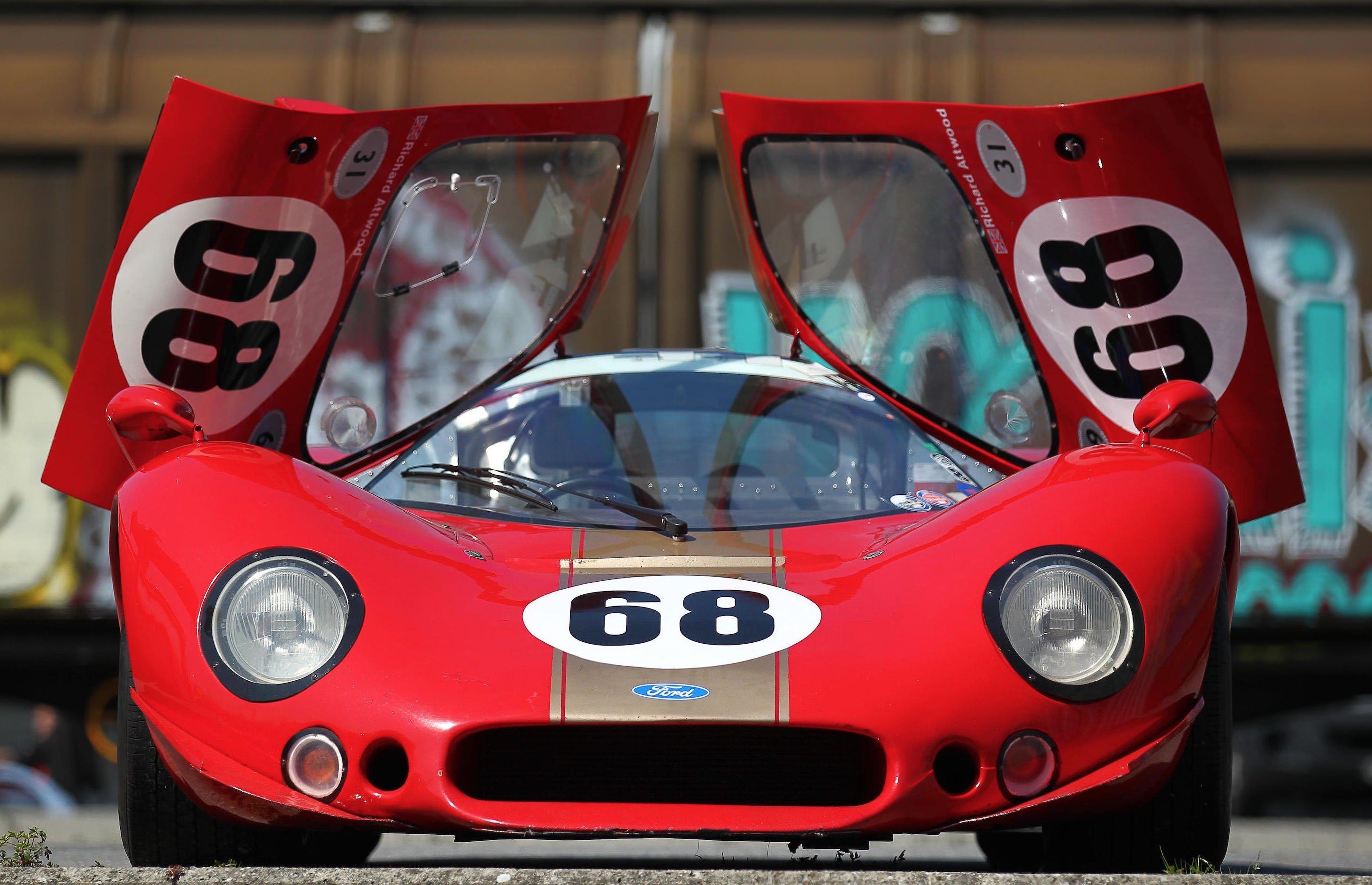 Type Ford P F L Prototype Racing Car Doors Up