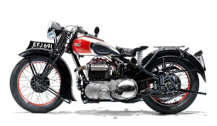 Ariel 4G Square Four motorcycle