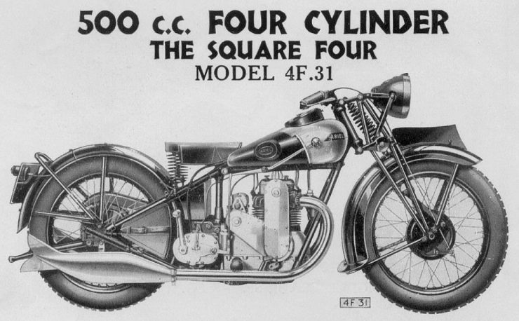 Ariel Model 4F.31 Square Four motorcycle