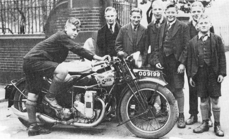 Ariel Square Four 4F OHC motorcycle