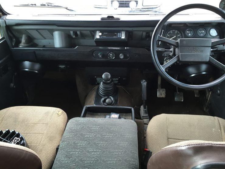Land Rover 110 County interior dashboard