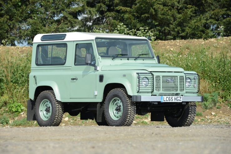 Land Rover Defender 50th Anniversary Rowan Atkinson