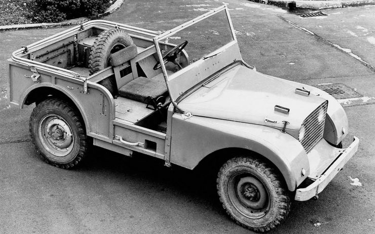 Land Rover prototype Jeep chassis Maurice Wilks
