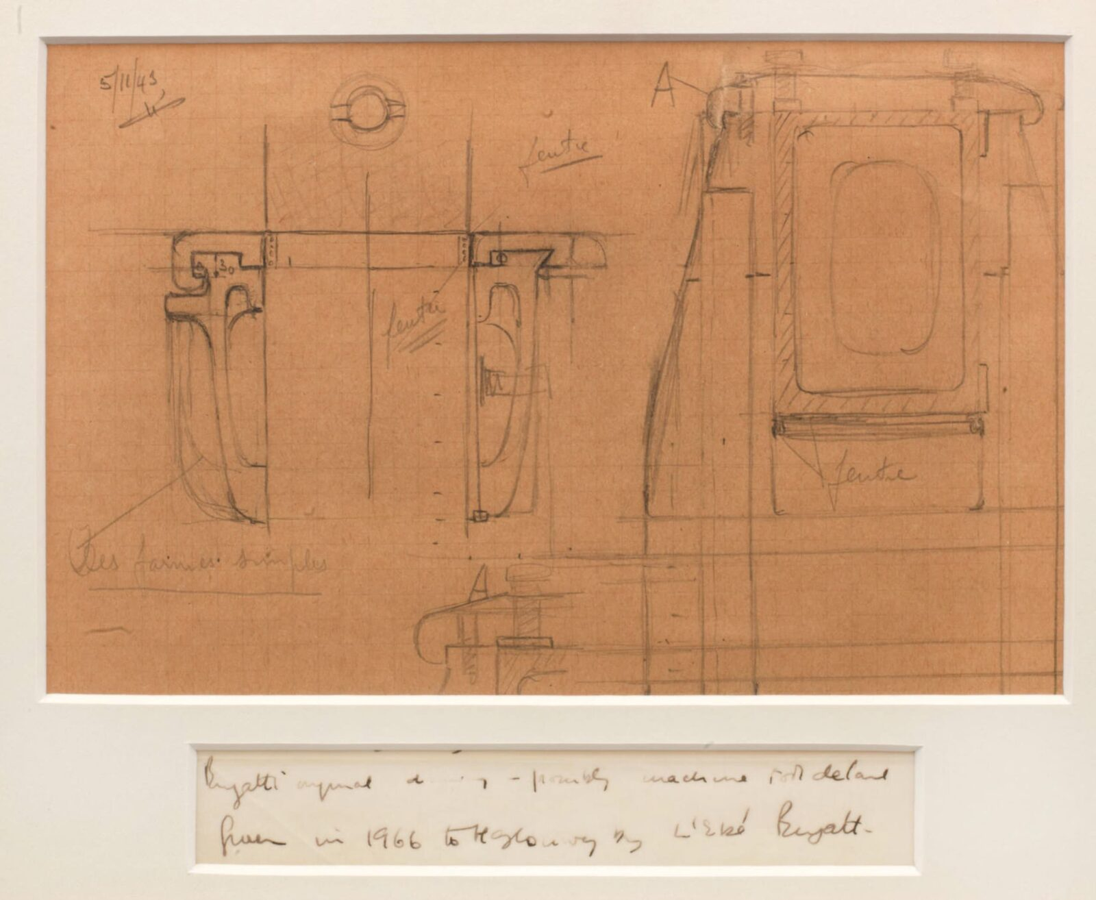 A Technical Drawing By Ettore Bugatti