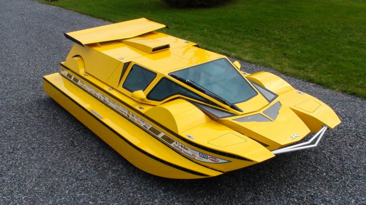 Amphibious Hydrocar 1 740x416 - The Amphibious Dobbertin HydroCar - A $1 Million Dollar 762 HP Boat/Car Hybrid